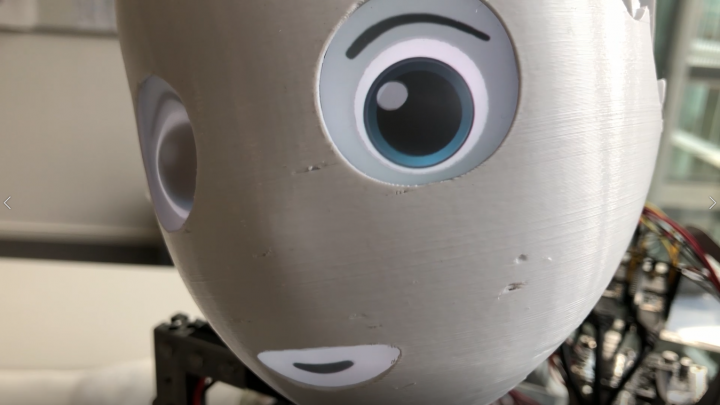 robot face prototype